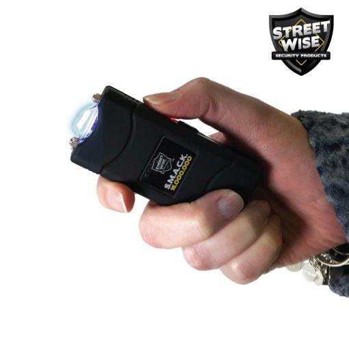 Streetwise SMACK stun gun black - in hand