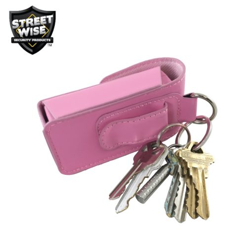 Streetwise SMACK stun gun pink - in holster with keys