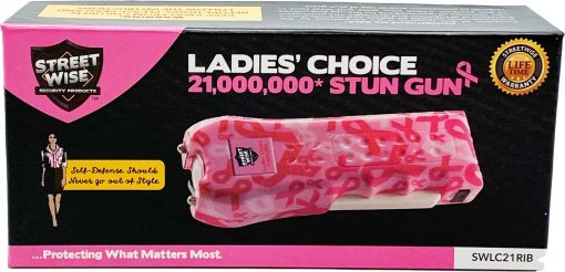 Streetwise Security Ladies' Choice stun gun - Pink Ribbon box