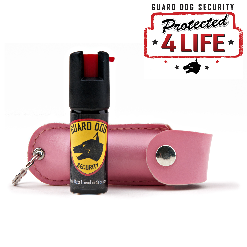 Guard Dog 1/2 oz. 18% OC Pepper Spray w/ Pink Holster