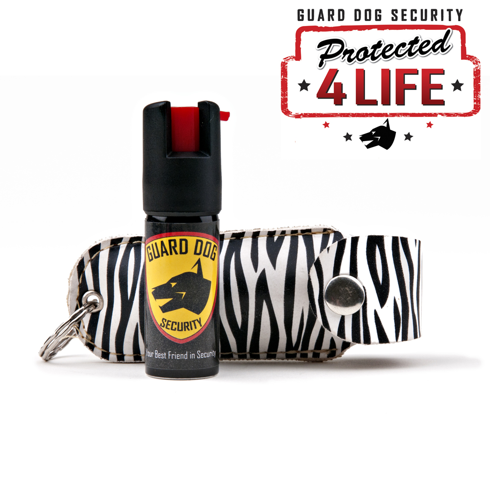 Guard Dog 1/2 oz. 18% OC Pepper Spray w/ Zebra Holster