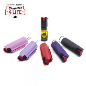 Guard Dog 1/2 Ounce 18% OC Hard Case Pepper Spray Keychain w/ Belt Clip color options
