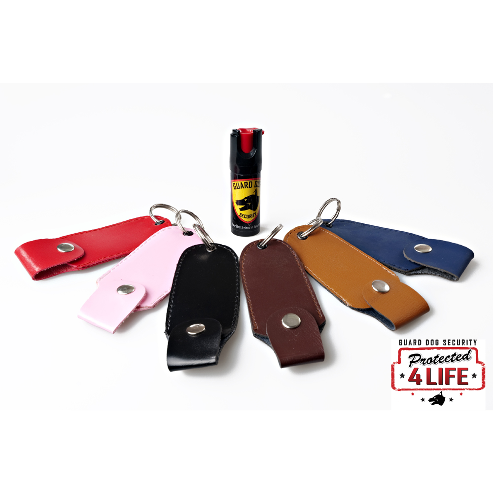Guard Dog 1/2 oz. 18% OC Pepper Spray Holster options