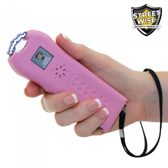 Ladies' Choice stun gun - Pink - in hand