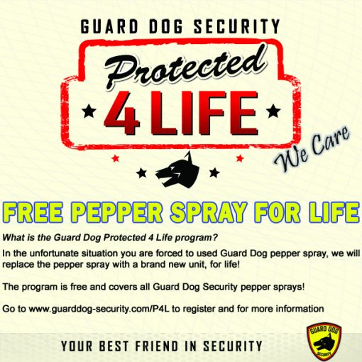 Guard Dog Pepper Spray Protected 4 Life info