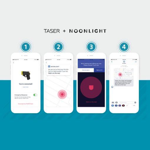 Taser Pulse Plus Noonlight app steps