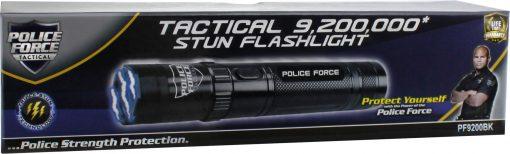 Police Force 9,200,000 Tactical Stun Flashlight black PF9200BK - in box