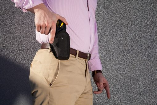 Taser Pulse Holster with Strap - in holster